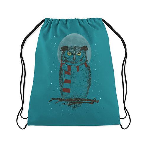 Drawstring Bag Winter owl