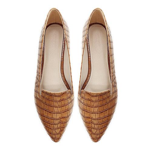 Croc Havana Flat Women's Shoe