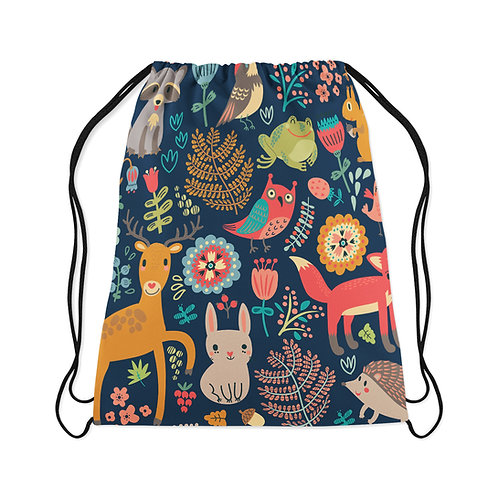 Drawstring Bag Forest Animal
