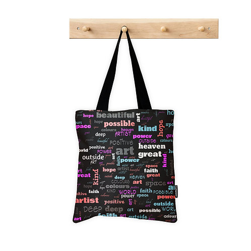 Tote Bag Positive Words