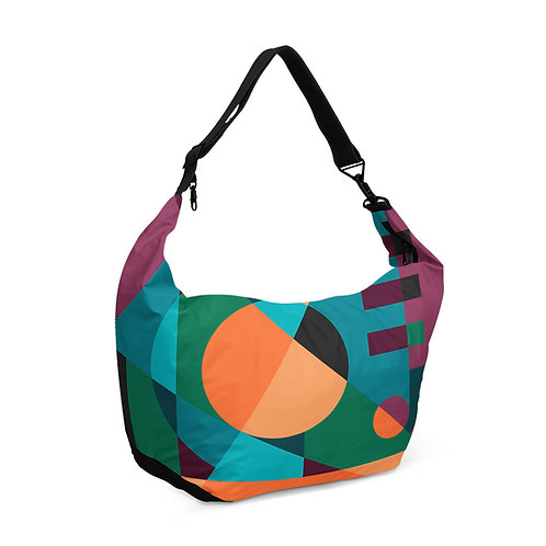 Crescent bag Geometric Purple