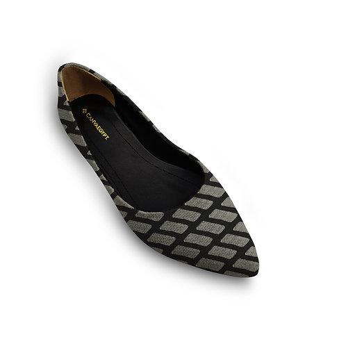 Flat Women's Shoe  African Black