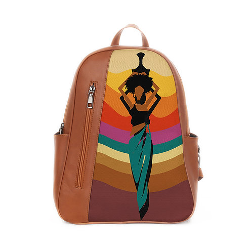 Mixed Backpack African Lady