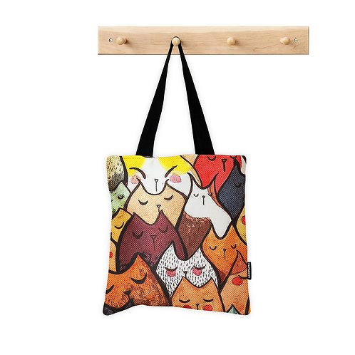 ToteBag Cats faces