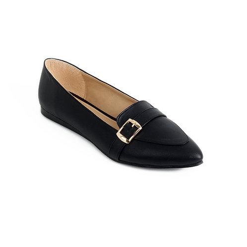 Black buckle Metal Shoe