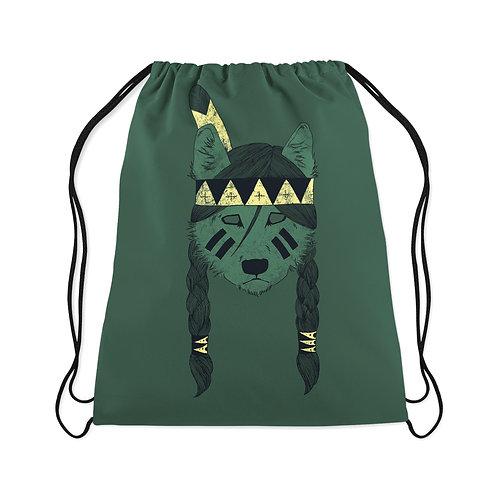 Drawstring Bag  Green skin