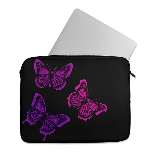 Laptop Sleeve Pinky Butterfly