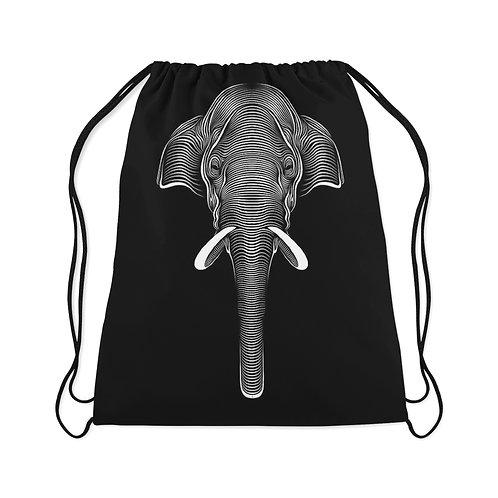 Drawstring Bag Elephant tribal