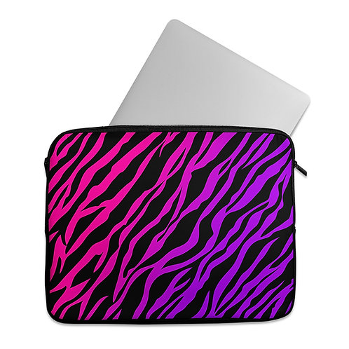 Laptop Sleeve Purple Zebra
