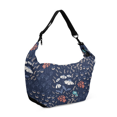 Crescent bag Blue Garden