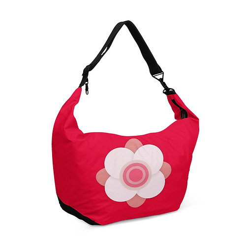 Crescent bag Floral Red