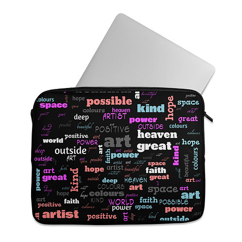 Laptop Sleeve Positive Words