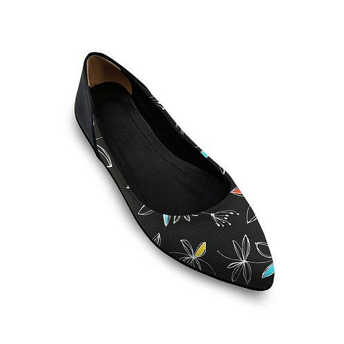 Flat Women's Shoe Floral Line