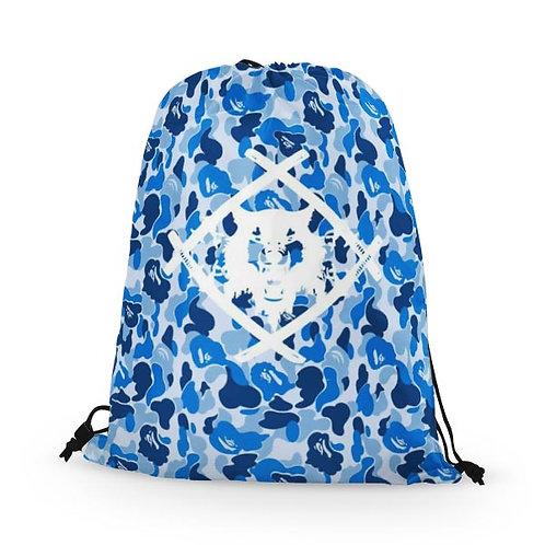 Drawstring Bag Blue Abstract