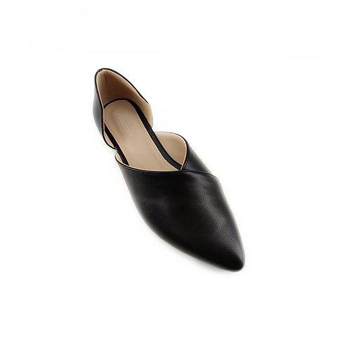 Black Slide-on Flat Women's Shoe