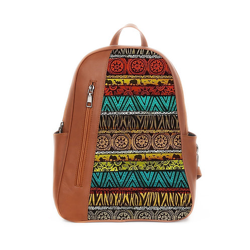 Mixed Backpack African Pattern