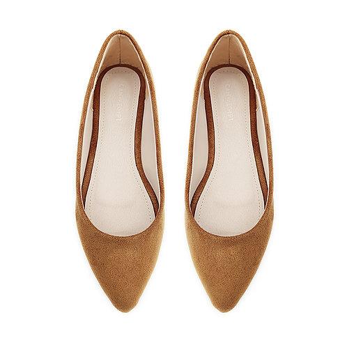 Solid Havana Flat Women's Shoe