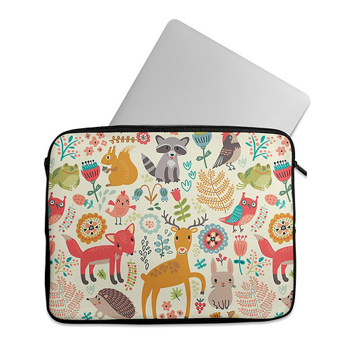 Laptop Sleeve Day Forest Animals