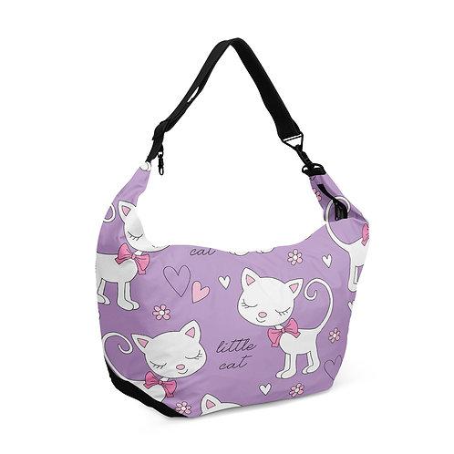 Crescent bag Little Cat Pattern