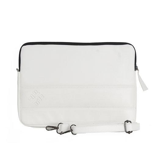 White  Leather Laptop Sleeve