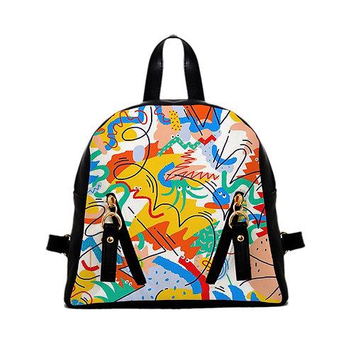 Mini Backpack step art