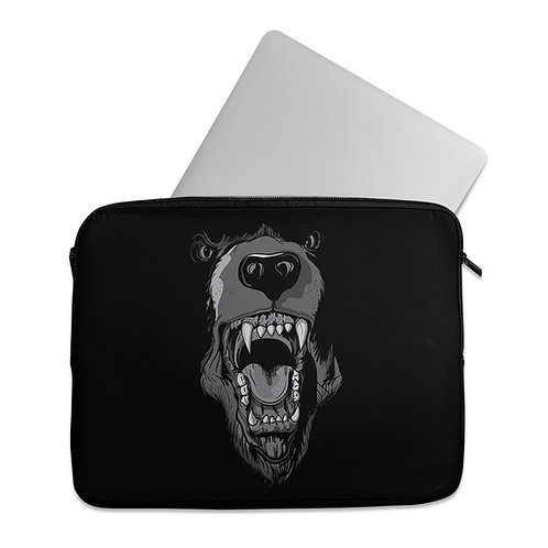 Laptop Sleeve angry dog