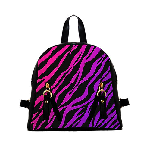 Mini Backpack purple zebra