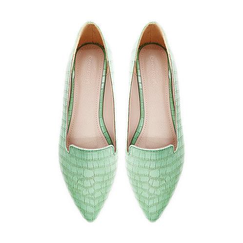 Croc LGreen Flat Women's Shoe