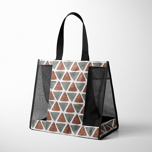 Mesh Bag African Triangles