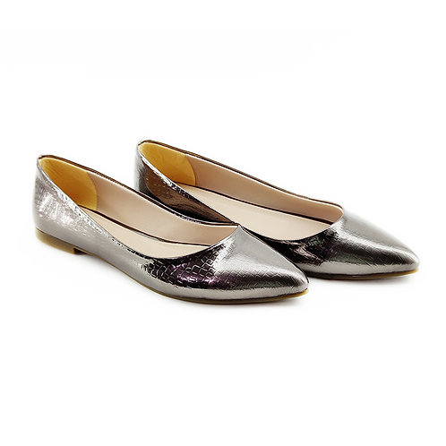 Soiree Flat Women's Shoe Dark Sliver