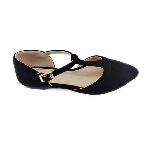 Black Hideout Flat Women's Shoe