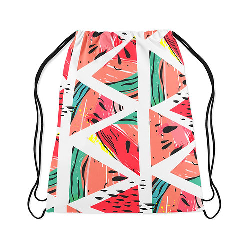 Drawstring Bag Watermelon White