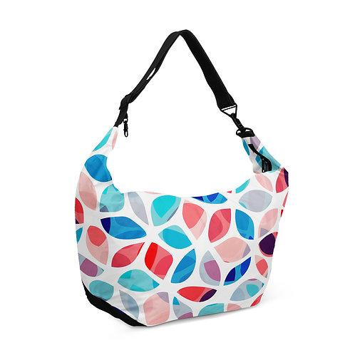 Crescent bag Petals Colorful