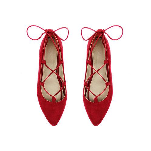 Rob Red Flat Women's Shoe