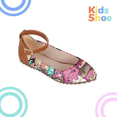 Kids Round Shoes Cartoons Ice cream
