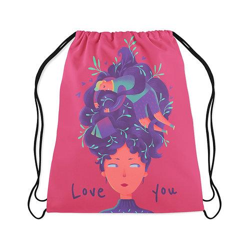 Drawstring Bag Love you