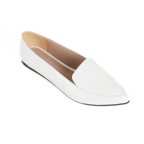 White Shiny Basic Flat