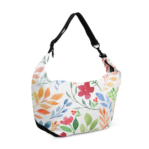 Crescent bag Floral White