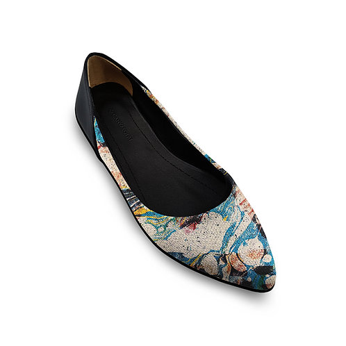 Flat Women's Shoe Abstract