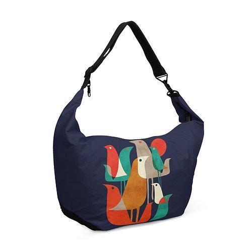 Crescent bag Birds Family