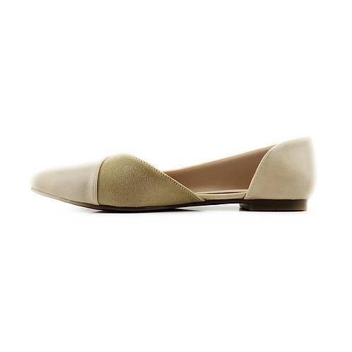 Beige Slide Sling  Flat Women's Shoe