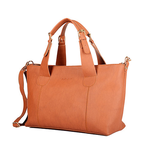 Large Handbag Havane Leather