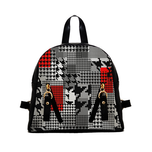 Mini Backpack HoundStooth
