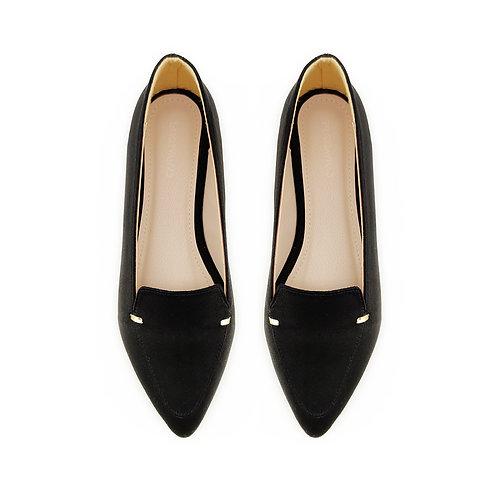 Black Stamp Flat Women's Shoe