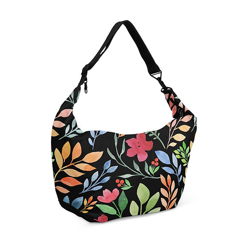 Crescent bag Floral Black