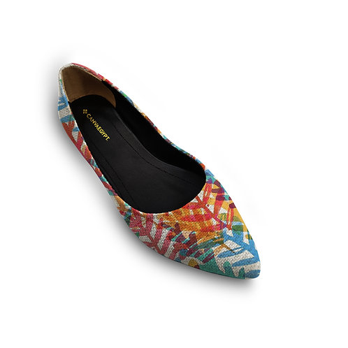 Flat Women's Shoe Colorful