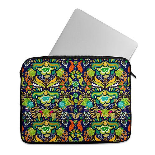 Laptop Sleeve Green Pattern