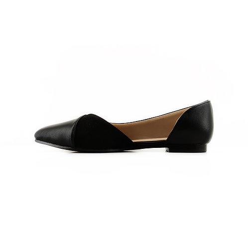 Black Slide Sling  Flat Women's Shoe
