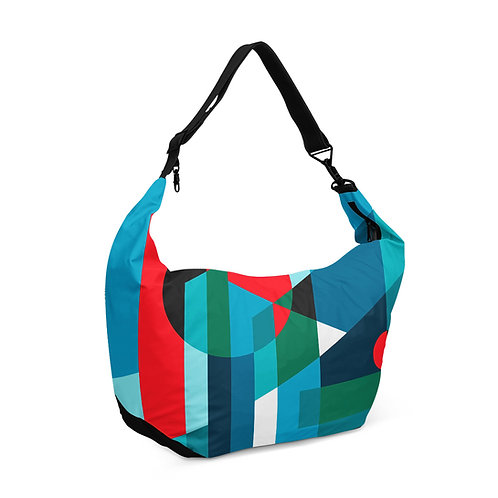 Crescent bag Geometric Blue