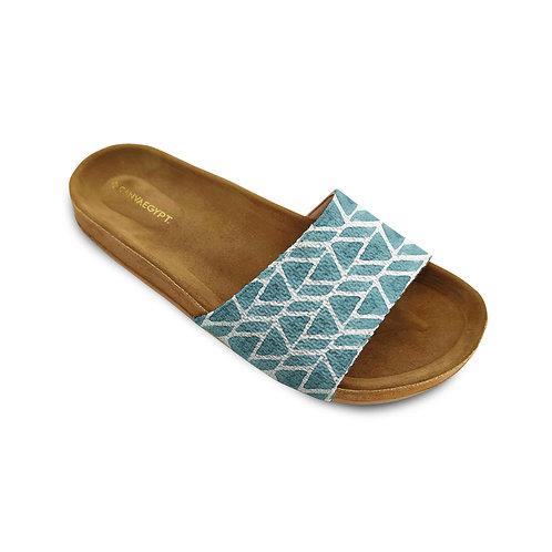 Slide Slipper African Blue